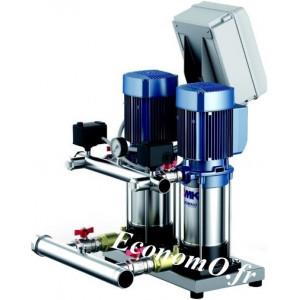 Surpresseur Pedrollo 2 Pompes à Vitesse Fixe CB2 - MK5/6-N de 1,8 à 16,8 m3/h entre 45,5 et 22 m HMT Tri 400 V 2 x 1,5 kW - Econ