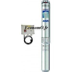 Pompe Immergée Pedrollo 4 pouces 4SR1m/35 avec Coffret de 0,3 à 1,8 m3/h entre 197 et 70 m HMT Mono 220/240 V 1,1 kW - EconomO.f