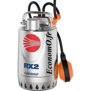 Pompe de Drainage Pedrollo RXm 2 de 3,6 à 13,2 m3/h entre 8 et 2 m HMT Mono 220/240 V 0,37 kW - EconomO.fr