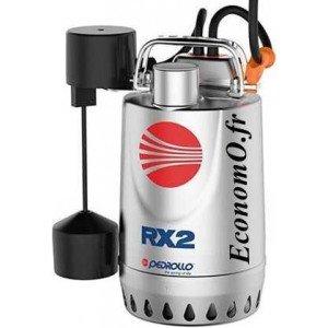 Pompe de Drainage Pedrollo RXm 1 GM de 3,6 à 8,4 m3/h entre 5 et 2 m HMT Mono 220/240 V 0,25 kW - EconomO.fr