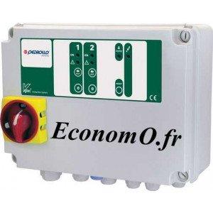 Coffret de Commande et de Protection Pedrollo 2 Pompes de Relevage VIGILEC V2BF Mono / Tri 10 kW maxi  - EconomO.fr