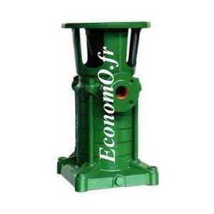 Hydraulique de Pompe Caprari Multicellulaire Verticale HVU18/4A de 7,2 à 28,8 m3/h entre 119 et 43 m HMT pour Moteur 7,5 kW - Ec