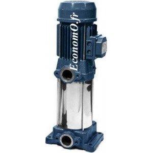 Pompe de Surface Ebara Multicellulaire Verticale CVM A/8 Fonte 1,2 à 4,8 m3/h entre 42,5 et 12,8 m HMT Tri 230/400 V 0,6 kW  - E