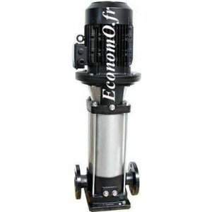 Pompe de Surface Ebara EVMG/B3 13N5/1,5 Fonte Multicellulaire Verticale 1,2 à 4,5 m3/h entre 109 et 43 m HMT Tri 230/400 V 1,5 k