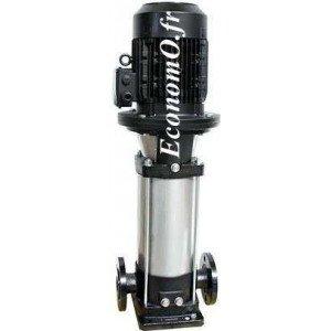Pompe de Surface Ebara EVMG/B3 2N5/0,37 Fonte Multicellulaire Verticale 1,2 à 4,5 m3/h entre 16,7 et 6,6 m HMT Tri 230/400 V 0,3