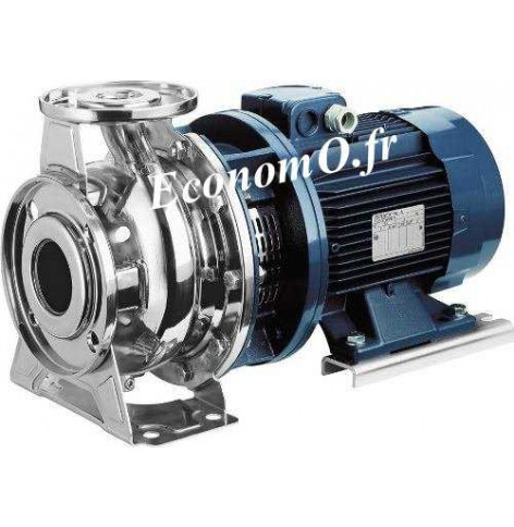Pompe de Surface Ebara SERIE 3S/I 65-125/4,0 Inox 304 de 36 à 114 m3/h entre 19,8 et 6,3 m HMT Tri 230/400 V 4 kW  Moteur Normal