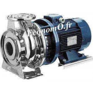 Pompe de Surface Ebara SERIE 3S/I 50-125/3,0 Inox 304 de 24 à 72 m3/h entre 20,5 et 8 m HMT Tri 230/400 V 3 kW  Moteur Normalisé