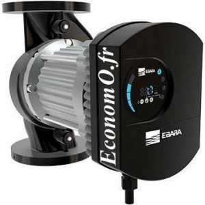 Circulateur Ebara Ego C 100 H Fonte de 7 à 60 m3/h entre 16,5 et 2 m HMT Mono 230 V 1,6 kW - EconomO.fr