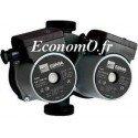Circulateur Double Ebara Ego T 25/60-180 Fonte de 0,3 à 3 m3/h entre 5,6 et 1,3 m HMT Mono 230 V 50 W - EconomO.fr