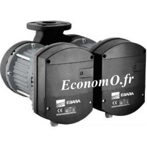Circulateur Double Ebara Ego TC 80 H Fonte de 7 à 60 m3/h entre 16,5 et 2 m HMT Mono 230 V 1,6 kW - EconomO.fr