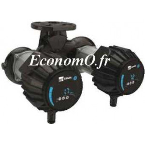 Circulateur Double Ebara Ego TC slim 80-80 Fonte de 7 à 45 m3/h entre 7,5 et 2 m HMT Mono 230 V 0,8 kW - EconomO.fr