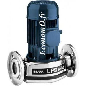 Pompe en Ligne Ebara LPS 25/08M de 1,2 a 4,2 m3/h entre 6,5 et 2,4 m HMT Mono 230 V 0,08 kW  - EconomO.fr