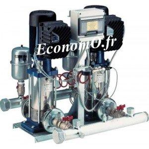 Surpresseur Lowara 2 Pompes à Vitesse Variable GTKS20/3SV07F007T de 1,2 à 8 m3/h entre 52 et 24 m HMT Mono 230 V 2 x 0,75 kW - E