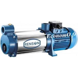 Pompe Multicellulaire Horizontale Renson RCT5-5PA de 1,2 à 4,8 m3/h entre 51,5 et 22 m HMT Tri 380 V 0,88 kW - EconomO.fr