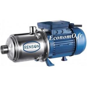 Pompe Multicellulaire Horizontale Renson de 2,4 à 10,2 m3/h entre 60,6 et 21,5 m HMT Tri 380 V 1,85 kW - EconomO.fr