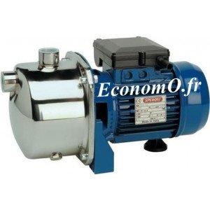 Pompe de Surface Speroni CAM 80 Inox de 0,6 à 3 m3/h entre 38 et 19 m HMT Mono 230 V 0,6 kW - EconomO.fr