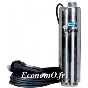 Pompe de Puits Immergee MXSM 303 QM Calpeda 1 a 4,5 m3/h entre 29,5 et 10 m HMT MONO 230 V 0,45 kW - EconomO.fr