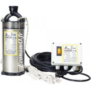 Pompe Immergée Dab TURBOSOM 77 M de 0,6 à 2,4 m3/h entre 69 et 17 m HMT Mono 230 V 0,75 kW - EconomO.fr