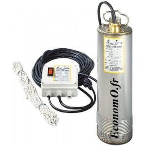 Pompe Immergée Dab SRM 7/100 Mono de 1,2 à 6 m3/h entre 75 et 20 m HMT Mono 230 V 1,2 kW - EconomO.fr