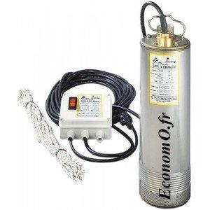 Pompe Immergée Dab SRM 6/100 Mono de 1,2 à 6 m3/h entre 64 et 17 m HMT Mono 230 V 0,95 kW - EconomO.fr