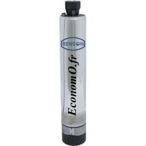 """Pompe de Puits 4"""" Renson 4SP101 de 0,6 à 4,8 m3/h entre 55 et 16,6 m HMT Mono 230 V 1,1 kW - EconomO.fr"""
