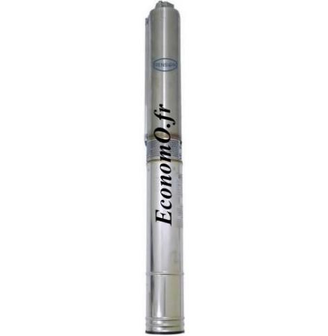 """Pompe Immergée 4"""" Renson 4F25TTF de 6 à 14,4 m3/h entre 106 et 14 m HMT Moteur Franklin Tri 380 V 4 kW - EconomO.fr"""
