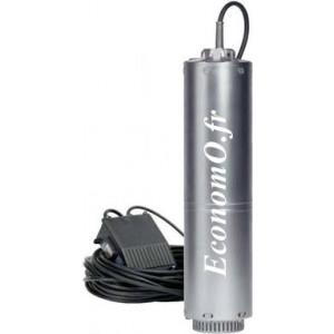 """Pompe Immergée 5"""" Speroni SCMX 3-4s de 1,5 à 4,5 m3/h entre 39,5 et 16 m HMT Mono 230 V 0,85 kW - EconomO.fr"""