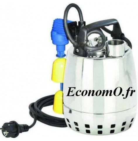 Pompe de Drainage GXRM 9 GFA Calpeda 3 à 10,2 m3/h entre 7 et 1,7 m HMT MONO 230 V 0,25 kW Flotteur Magnétique - EconomO.fr