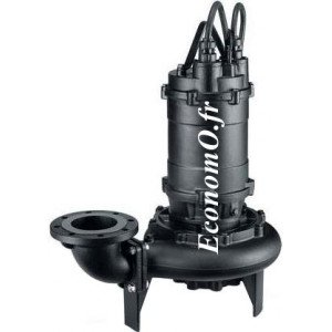 Pompe de Relevage Ebara Fonte 150DML57,5 de 60 à 204 m3/h entre 18 et 4 m HMT Tri 400 V 7,5 kW  - EconomO.fr