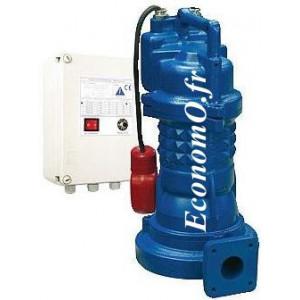 Pompe de Relevage Ebara 40DRS51.1M2AG Dilacératrice de 5 à 14,5 m3/h entre 12 et 2,5 m HMT Mono 230 V 1,1 kW  - EconomO.fr