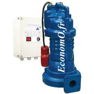 Pompe de Relevage Ebara 40DRS51.5M2BG Dilacératrice de 5 à 14 m3/h entre 19 et 11 m HMT Mono 230 V 1,5 kW  - EconomO.fr