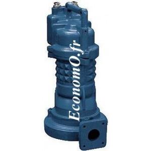 Pompe de Relevage Ebara 40DRS55T2BG Dilacératrice de 5 à 16 m3/h entre 40 et 33 m HMT Tri 400 V 5 kW  - EconomO.fr