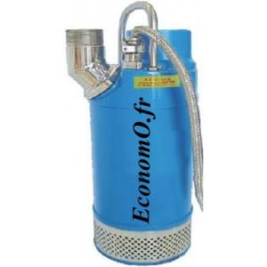 Pompe de Relevage Ebara DUMPER 31 57,5-M de 6 à 156 m3/h entre 29,1 et 5,7 m HMT Tri 400 V 7,5 kW  - EconomO.fr