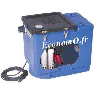 Station de Relevage Ebara BEST BOX L 30 litres avec Pompe Best One de 1,2 à 10,2 m3/h entre 8,3 et 1,8 m HMT Mono 230 V 0,25 kW