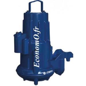 Pompe de Relevage Lowara Vortex 1305H-50W.251.V92.230/10 de 6 à 26,5 m3/h entre 7 et 1 m HMT Mono 230 V 0,75 kW - EconomO.fr