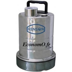 Pompe Serpillère Inox Renson S25 de 1,5 à 9 m3/h entre 7,2 et 1 m HMT Mono 230 V 0,25 kW - EconomO.fr