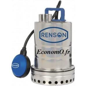 Pompe Vide Cave Renson Inox de 1,5 à 9 m3/h entre 7,2 et 1 m HMT Mono 230 V 0,25 kW - EconomO.fr