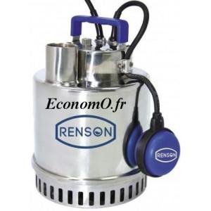Pompe Vide Cave Renson Inox de 3 à 18 m3/h entre 13 et 1,5 m HMT Mono 230 V 0,75 kW - EconomO.fr