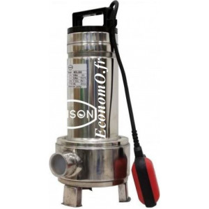 Pompe de Relevage Renson Inox Vortex de 3 à 18 m3/h entre 8,4 et 3,4 m HMT Mono 230 V 0,55 kW - EconomO.fr