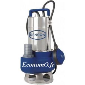 Pompe de Relevage Renson JS 400 VA Vortex de 3 à 15,6 m3/h entre 6 et 1,5 m HMT Mono 230 V 0,6 kW - EconomO.fr
