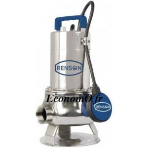 Pompe de Relevage Renson Vortex de 3 à 25,5 m3/h entre 11,4 et 1,4 m HMT Mono 230 V 1,1 kW - EconomO.fr