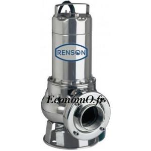 Pompe de Relevage Renson Vortex M 150 SA de 3 à 30 m3/h entre 9,7 et 2,8 m HMT Mono 230 V 1,1 kW - EconomO.fr