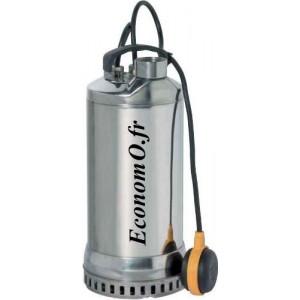Pompe de Drainage Speroni SXS 1500 DA Inox de 3,6 à 21 m3/h entre 15,5 et 5 m HMT Mono 230 V 1,1 kW - EconomO.fr