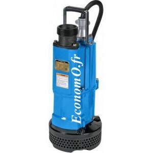 Pompe de Chantier Tsurumi NK2-22 de 5 à 32 m3/h entre 22 et 2 m HMT Mono 230 V 2,2 kW - EconomO.fr