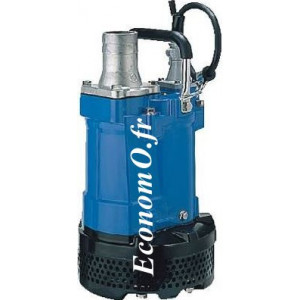 Pompe de Relevage Aluminium Tsurumi KTV2-15PU de 3 à 25 m3/h entre 19 et 2 m HMT Tri 400 V 1,5 kW - EconomO.fr