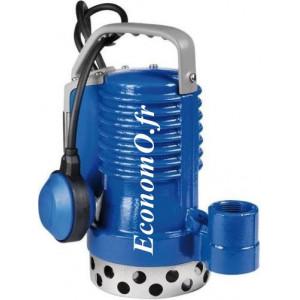 Pompe de Relevage Zenit DR BLUE PRO 75 T de 3,6 à 14,4 m3/h entre 11,3 et 5,3 m HMT Tri 400 V 0,55 kW - EconomO.fr