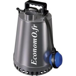 Pompe de Relevage Zenit DR STEEL 75 M de 1,8 à 19,9 m3/h entre 15 et 2,5 m HMT Mono 230 V 0,75 kW - EconomO.fr