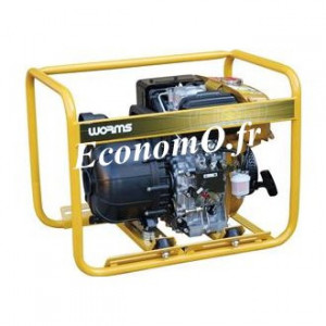 Motopompe Robin Subaru P 52 D Thermoplastique Diesel de 6 à 42 m3/h entre 38 et 3 m HMT avec DE et Kit Joint Viton - EconomO.fr