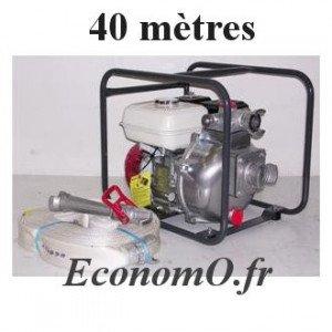 Motopompe Incendie TSURUMI Essence HP TEF3 50 H VB 14 m3/h a 51 m HMT + Aspireau 5 m + Refoulement 40 m + Lance Hudget - EconomO