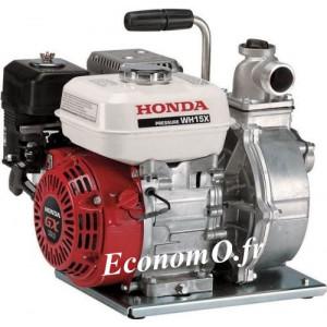 Motopompe Haute Pression Honda WH 15 XT EX Essence de 1,5 à 24 m3/h entre 49 et 1 m HMT - EconomO.fr